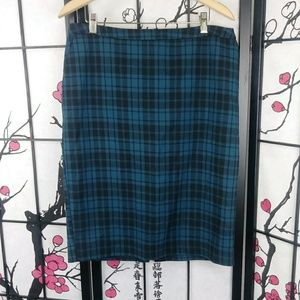 🌼 Merona Tartan Stretch Cotton Pencil Skirt